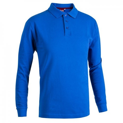 POLO MANICA LUNGA BLU ROYAL
