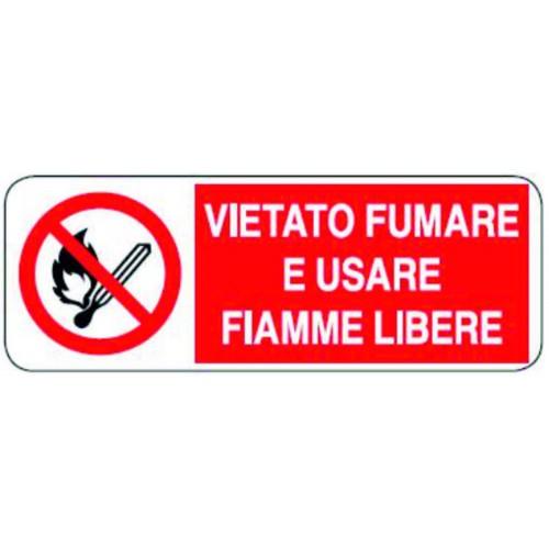 CARTELLO VIETATO FUMARE E...