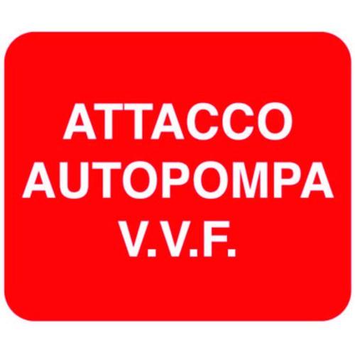 CARTELLO ATTACCO AUTOPOMPA...