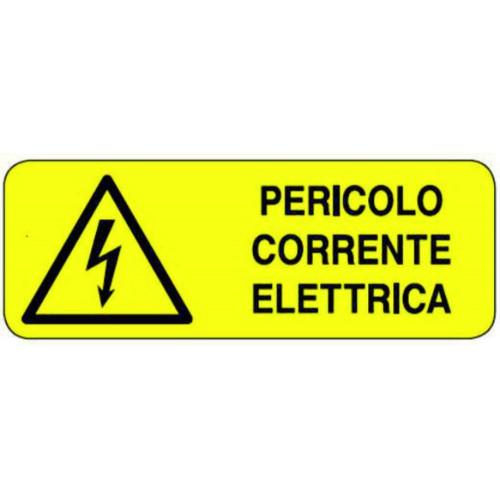 CARTELLO PERICOLO CORRENTE...