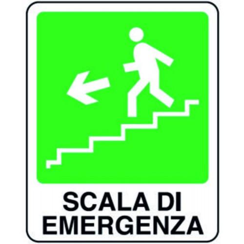 CARTELLO SCALA EMERGENZA SX