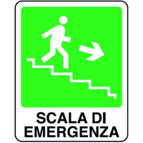 CARTELLO SCALA EMERGENZA DX
