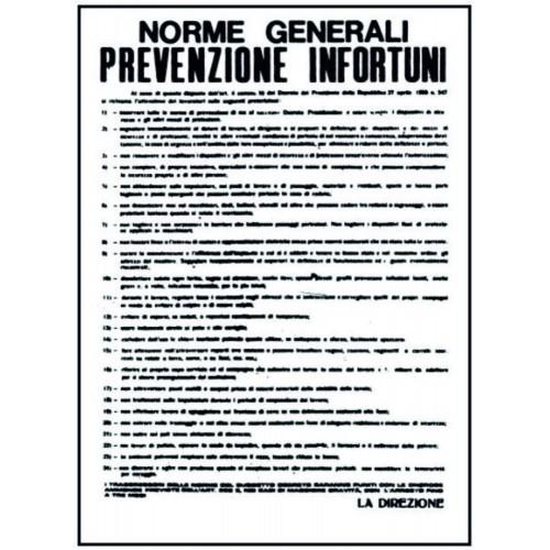 CARTELLO NORME GENERALI...