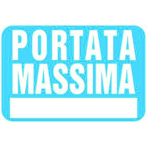 CARTELLO PORTATA MASSIMA