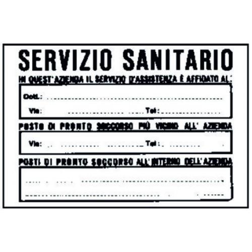 CARTELLO SERVIZIO SANITARIO