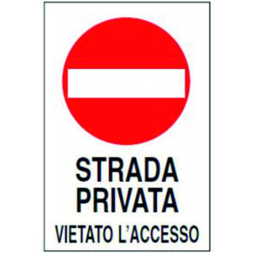 CARTELLO STRADA PRIVATA...