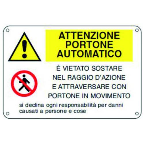 CARTELLO ATTENZIONE PORTONE...